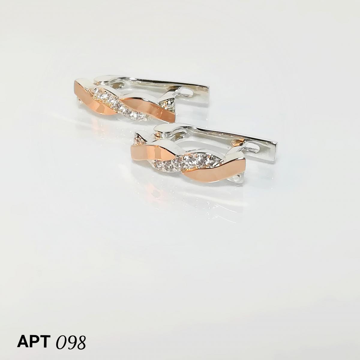 b1cb1f13a1911c Сережки срібні 925 проби з золотими пластинами 375 проби купити ...