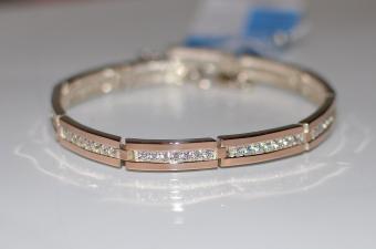 Срібні браслети із золотою вставкою (пластинам) Біла Церква купити ... dc94e676ce659
