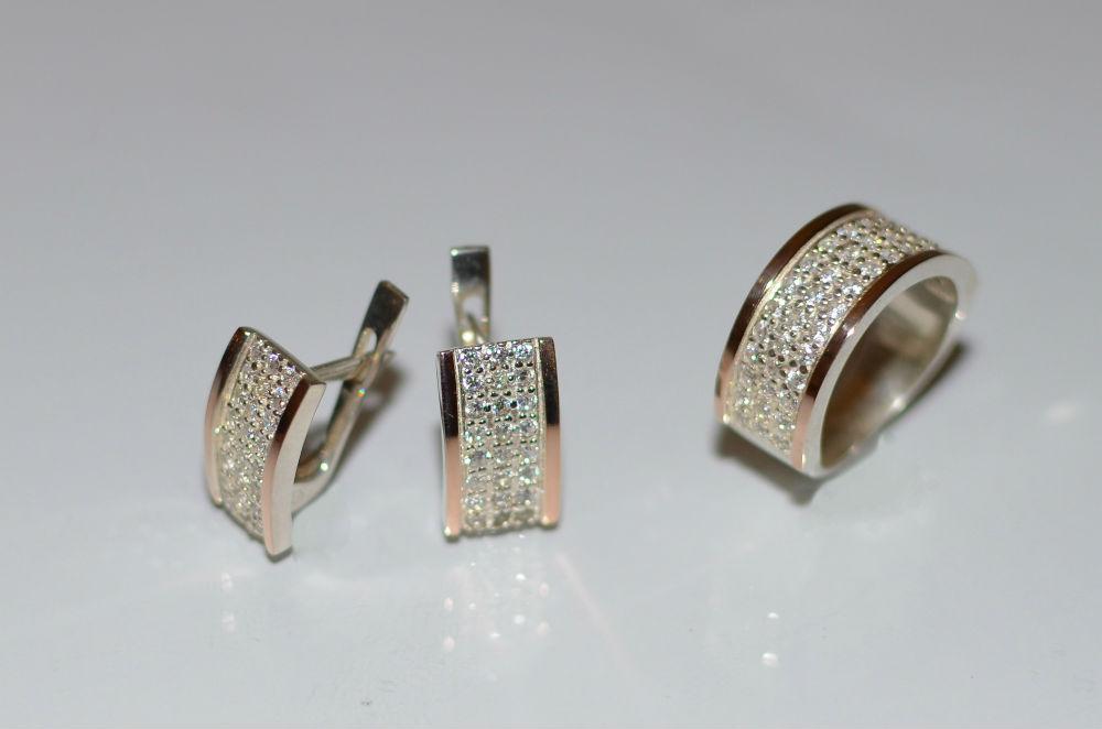 Срібні набори з золотою вставкою (пластинами) Біла Церква купити ... f6d57bd81df1a